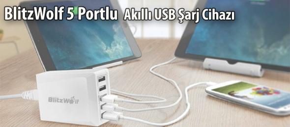 BlitzWolf 5 Port Akıllı USB Şarj Cihazı