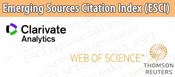 Web of Science Kapsamında Yeni Bir Atıf İndeksi: ESCI