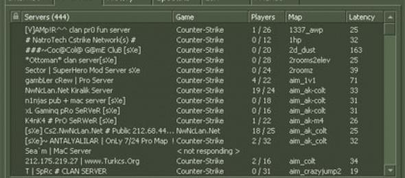 Counter-Strike 1.6 Türkiye Sunucuları