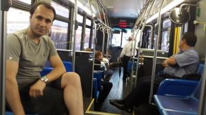 New York otobüslerinden bir kare