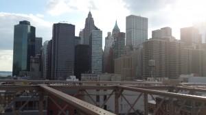 Brooklyn Köprüsünden Manhattan gökdelenleri