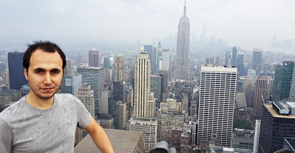 Yağmurlu bir günde New York manzarası