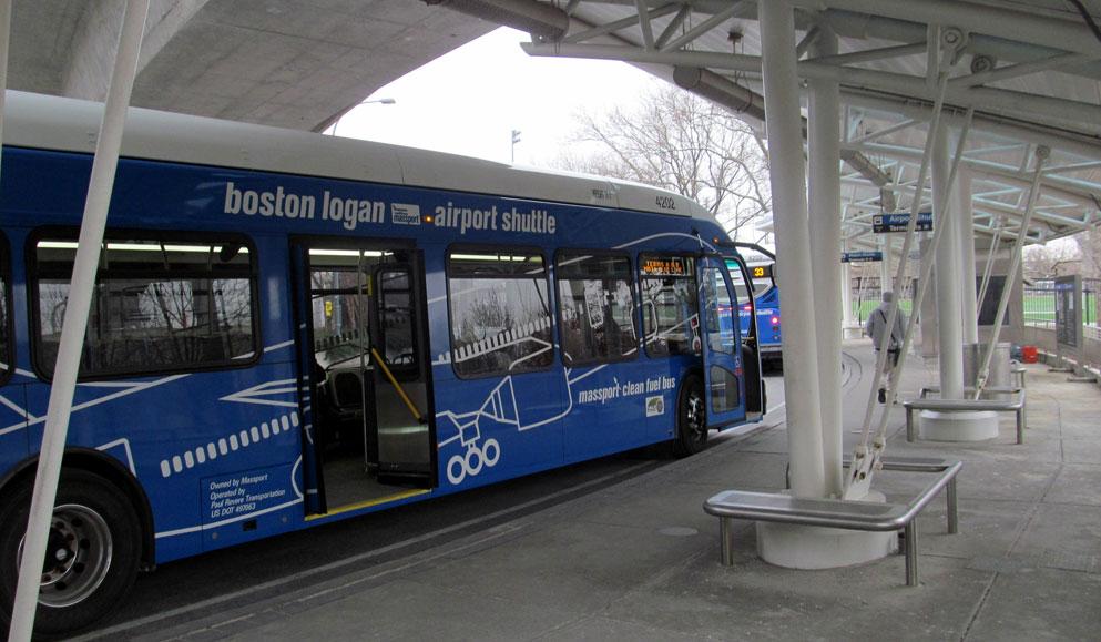 Boston Logan Havaalanı servis otobüsü