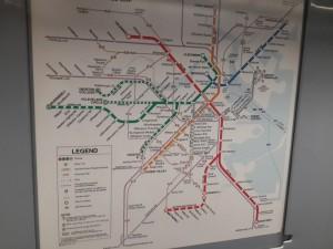 Boston metrosunun haritası