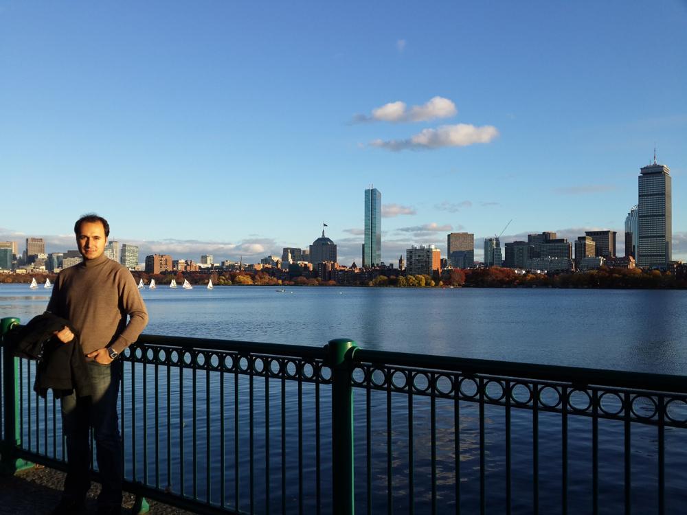 MIT civarlarında Boston manzarası