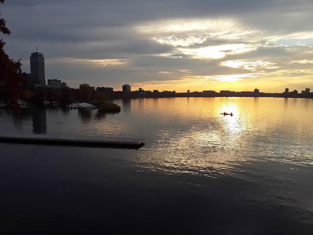 Charlers Nehri ve gün batımı