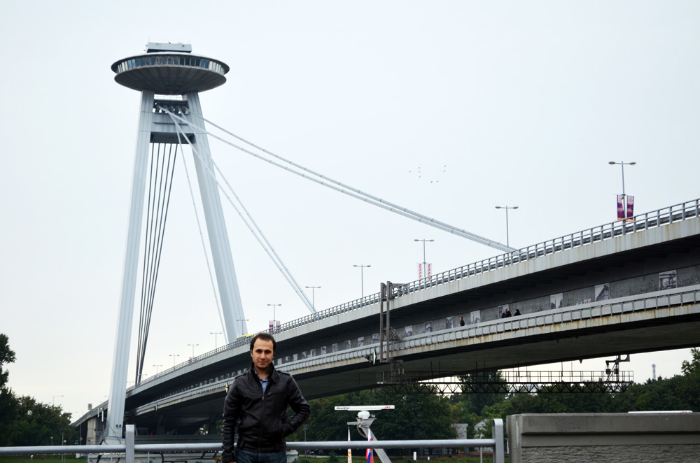 Bratislava köprüsü ve UFO kulesi