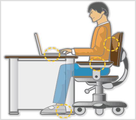 Bilgisayarda nasıl oturulmalıdır