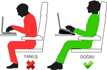 Bilgisayarda oturuş şekli