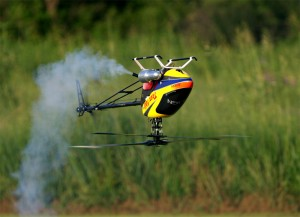 Nitrolu RC helikopter