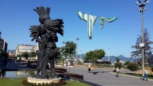 Giresun Atatürk Meydanı heykel
