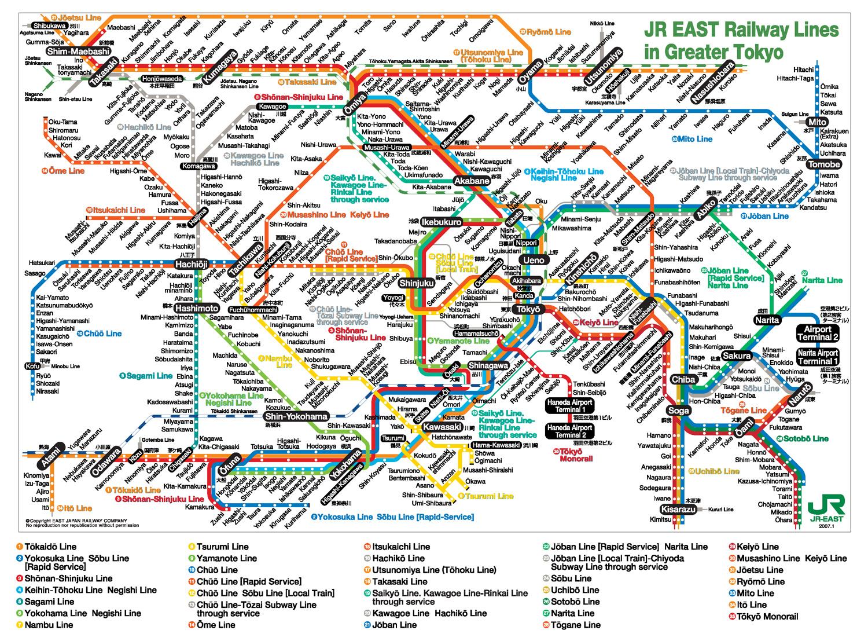 Tokyo metro haritası