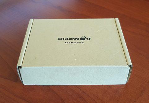 BlitzWolf BW-C6 şarj aleti kutusu