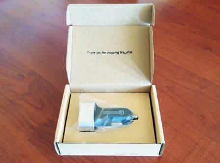 BlitzWolf BW-C6 şarj aleti kutu içeriği