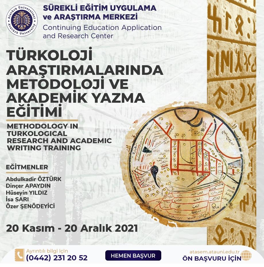 Türkoloji Araştırmalarında Metodoloji ve Akademik Yazma Eğitimi