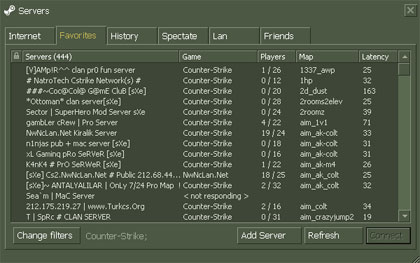 Counter-Strike 1.6 Server List
