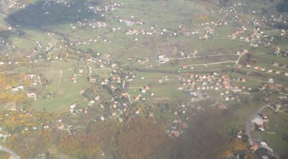 Uçaktan Saraybosna Manzarası