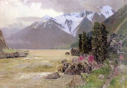 """Gurkin'in 1908 yılında çizdiği """"Nehir"""" isimli resmi"""