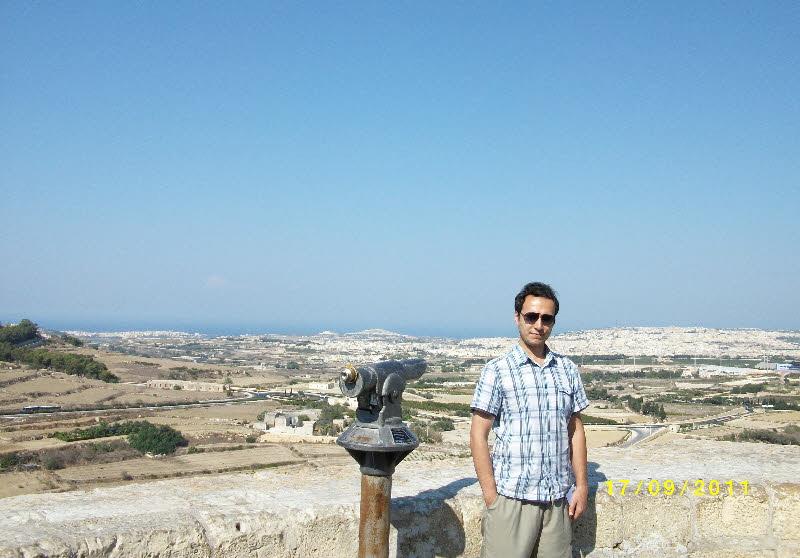 Malta'nın en yüksek noktalarından Mdina tepesi