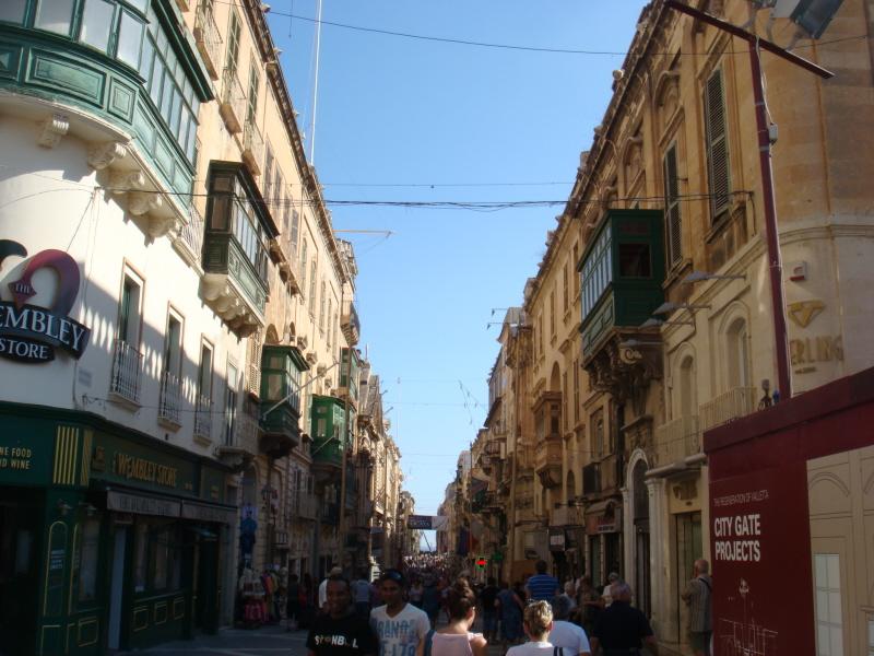 Başkent Valletta Sokakları