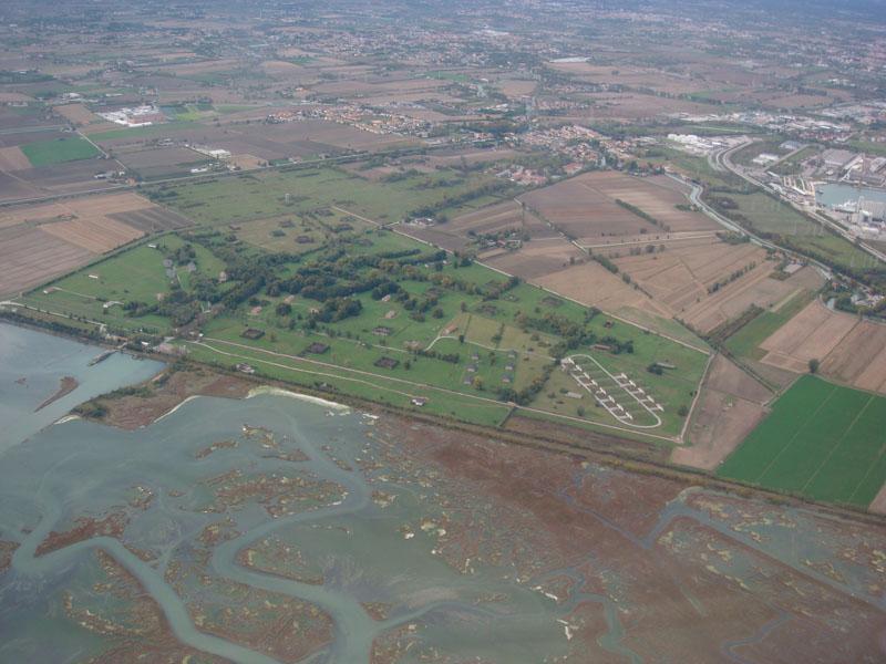 Uçaktan Venedik manzarası